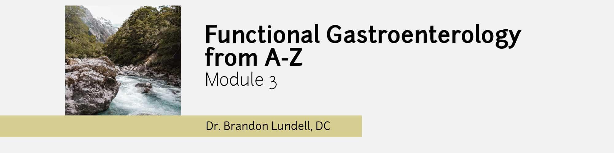 Module 3 - Functional Gastroenterology