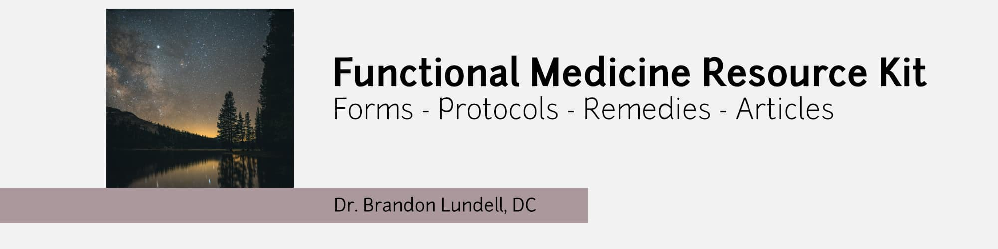 Functional Medicine Resource Kit